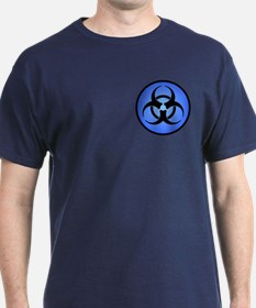 Blue Biohazard Symbol T-Shirt