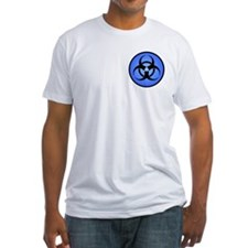 Blue Biohazard Symbol Shirt