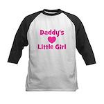 Daddy's Little Girl with hear Kids Baseball Jersey