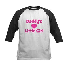 Daddy's Little Girl with hear Kids Baseball Jersey