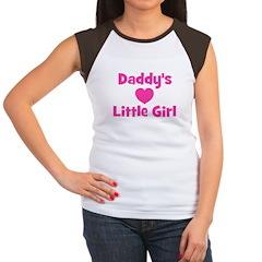 Daddy's Little Girl with hear Women's Cap Sleeve T