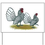 Sebright Silver Bantams Yard Sign