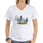 Sebright Silver Bantams Women's V-Neck T-Shirt