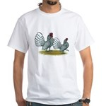 Sebright Silver Bantams White T-Shirt