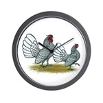 Sebright Silver Bantams Wall Clock