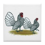 Sebright Silver Bantams Tile Coaster