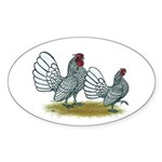 Sebright Silver Bantams Sticker (Oval)