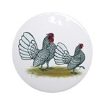 Sebright Silver Bantams Ornament (Round)