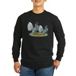 Sebright Silver Bantams Long Sleeve Dark T-Shirt