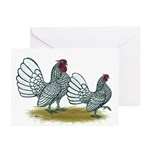 Sebright Silver Bantams Greeting Cards (Pk of 10)