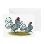 Sebright Silver Bantams Greeting Card