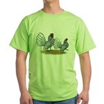Sebright Silver Bantams Green T-Shirt