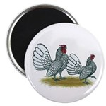 "Sebright Silver Bantams 2.25"" Magnet (10 pack"