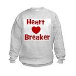 Heart Breaker with heart Kids Sweatshirt