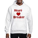 Heart Breaker with heart Hooded Sweatshirt