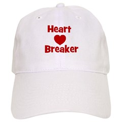 Heart Breaker with heart Baseball Cap