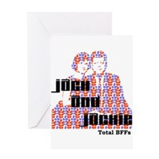 Jack and Jackie Totally BFFs Greeting Card