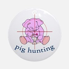 pig hunting Ornament (Round)