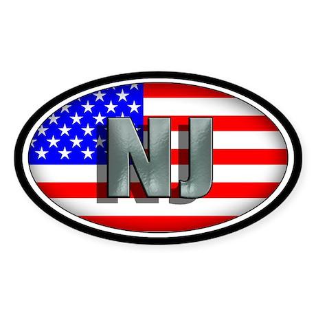 NEW JERSEY Oval Sticker