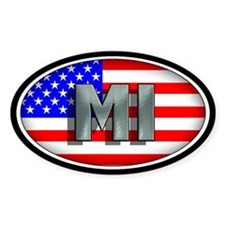MICHIGAN Oval Bumper Stickers