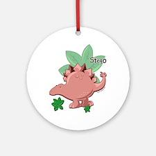 Stegosaurus Dinosaur Ornament (Round)