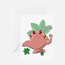 Stegosaurus Dinosaur Greeting Card