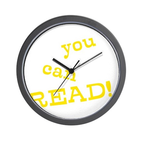 You Can Read! Wall Clock