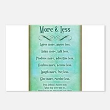More & Less Postcards (Package of 8)