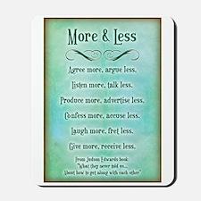 More & Less Mousepad