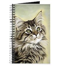 Cute Maine coon cat Journal
