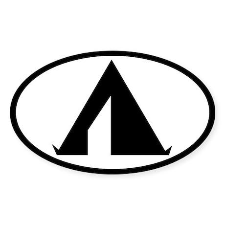 Tent Oval Sticker