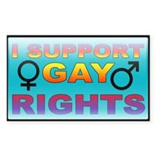 I Support Gay Rights Rectangle Decal