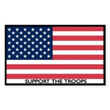 Support the Troops American Flag Decal