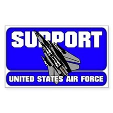 Support the US Air Force Rectangle Decal