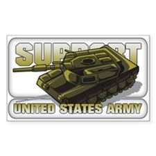 Support the US Army Rectangle Decal