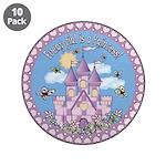"""Princess Castle 3.5"""" Button (10 pack)"""