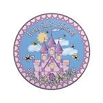 """Princess Castle 3.5"""" Button"""