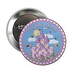 """Princess Castle 2.25"""" Button"""