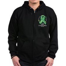 Cerebral Palsy Ribbon of Butt Zip Hoodie