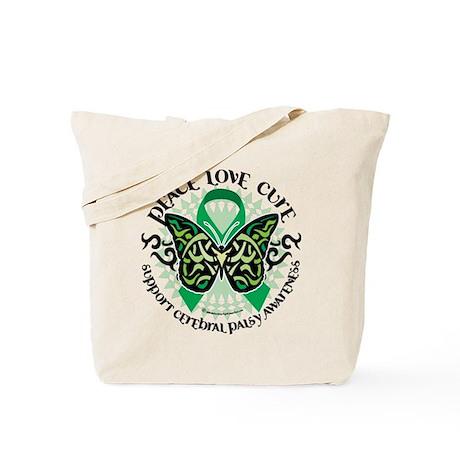 Cerebral Palsy Tribal Butterf Tote Bag