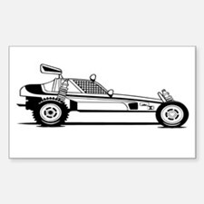 Dune Buggy Rectangle Bumper Stickers