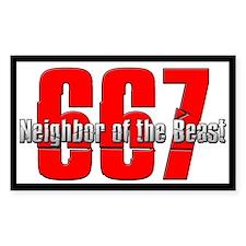 667 Neighbor of the Beast Decal