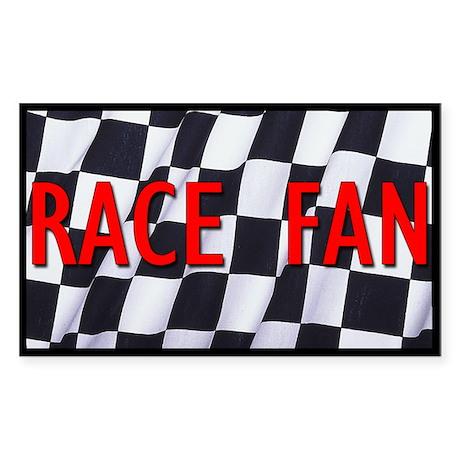 Race Fan Rectangle Sticker