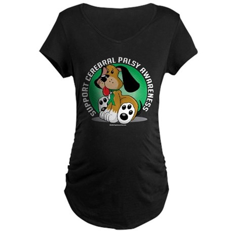 Cerebral Palsy Dog Maternity Dark T-Shirt