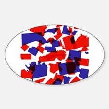 No Longer United States Sticker (Oval)