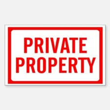 PRIVATE PROPERTY Sign Rectangle Decal