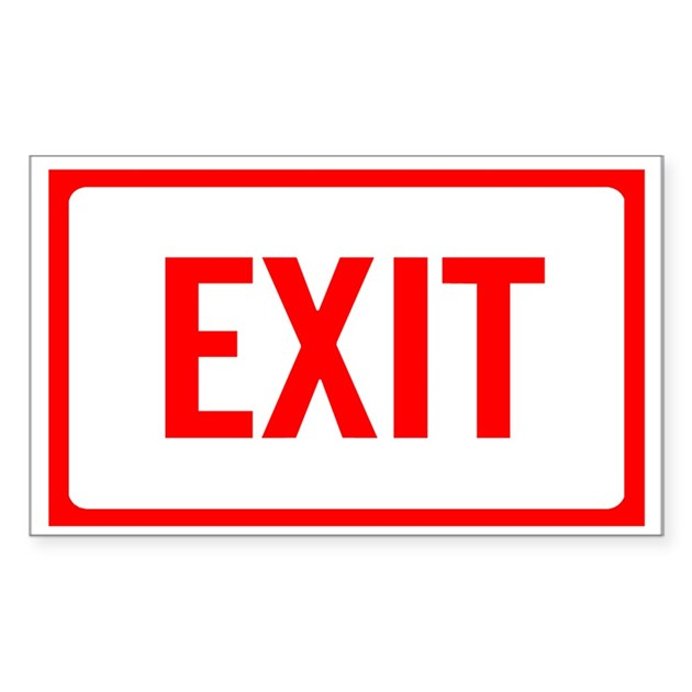 exit sign coloring page - exit sign rectangle decal by theinternetmall