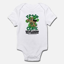 CP Paws for the Cure Dog Infant Bodysuit