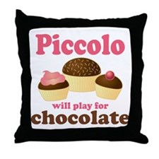 Funny Chocolate Piccolo Throw Pillow