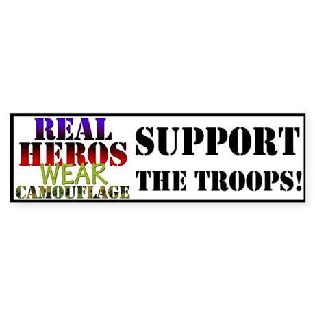 Real Heros/Troops Bumper Sticker